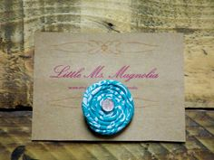 Turquoise Hair clip for little girls, so sweet!