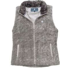 Heathered Zip Sherpa Vest in Moon Mist by The Southern Shirt Co.  - 2