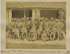 Rajput Regiment of Bengal Infantry INDIA 1890 SIKH Officers