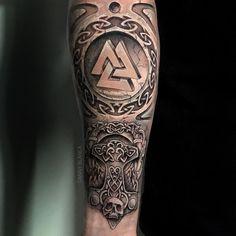 Viking Tattoo Sleeve, Norse Tattoo, Full Sleeve Tattoos, Celtic Tattoos, Viking Tattoos, Body Art Tattoos, Tribal Tattoos, 3d Tattoos, Tattoo Ink