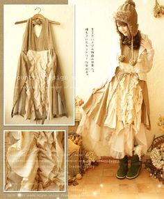 i love this kind of unfinished style...less lolita and more contemporary.. like a clochard style
