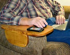 """Armchair/Couch Tray, TV Tray, Table, Arm Rest Tray, Desk, 6"""", 8"""", 10"""", 12"""", Custom Made To Fit"""
