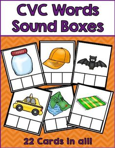 HALLOWEEN CURRICULUM CVC WORDS: Are you working on CVC words? These CVC sound boxes are the perfect way for students to practice beginning, middle, and ending sounds. These are a great literacy center activity. Phonics Activities, Language Activities, Classroom Activities, Short A Activities, Classroom Rules, Work Activities, Activity Ideas, Classroom Ideas, Kindergarten Centers