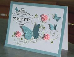 Handmade Sympathy Card Stampin' Up Thanks for by WhimsyArtCards