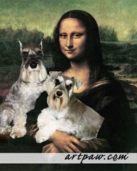 I've always hated this painting. She looks so creepy. That's a HUGE improvement! Lol!