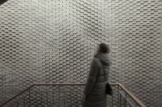Gallery of This Hand-Laid Brick Feature Wall Was Inspired by Soundwaves in Water - 1