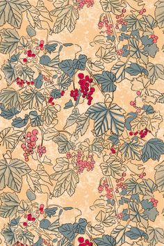 Red Currant, designed by Herbal Thing, Sabina Kulicka. Available for fabric or wallpaper. Visit my website to find the links to my partner Spoonflower. Living Styles, Country Living, Spoonflower, Fabric Design, Herbalism, Fabrics, Quilts, Website, Wallpaper