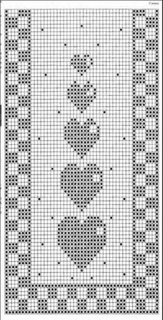 Crochet / table runner / grandma blanket German, English and Italian - woolly .Crochet / table runner / grandma blanket German, English and Italian - woolly things! Filet Crochet Charts, Crochet Motifs, Crochet Diagram, Afghan Crochet Patterns, Crochet Doilies, Crochet Stitches, Crochet Bookmark Pattern, Crochet Bookmarks, Crochet Table Runner Pattern