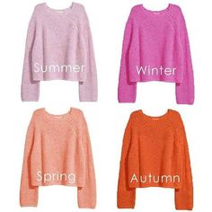 Are you wearing the right sweater for your season? Take the color quiz link in bio. Soft Summer, Summer Winter, Clear Winter, Spring, Mode Outfits, Fashion Outfits, Color Quiz, Summer Colors, Autumn Colours