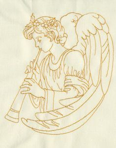 Redwork Angels 03