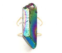 Titanium Quartz Ring by Natalia Benson