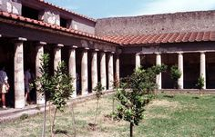 Courtyard of the house of Julia Felix in Pompeii
