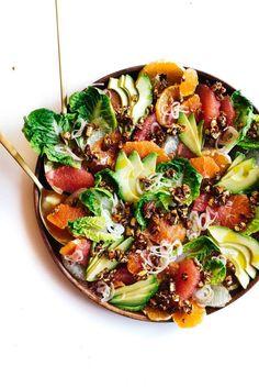 Citrus Avocado Salad with Black Pepper Almonds