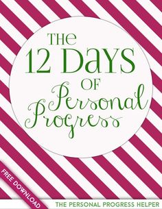 The 12 Days of Personal Progress: a great way to get Young Women excited for Personal Progress during the holiday season!
