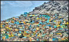 Colorful building in Lima, Peru