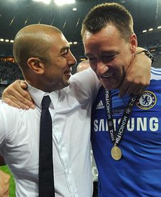 what legends, my heroes <3 -- PAIR OF ACES ... Roberto Di Matteo and John Terry.