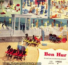 Play Ben Hur Set From The 1960s..