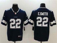 $21 Men's Dallas Cowboys #22 Emmitt Smith Stitched Navy Blue 2017 Vapor Untouchable NFL Nike Limited Jersey