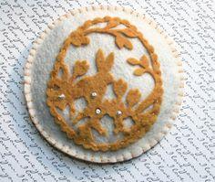 Wool felt spring die cut  lavender sachet. Filled by WhimsyFelt