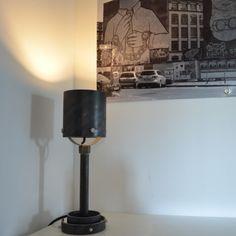 """Tischlampe """"SUDRI"""" - Industriedesign aus Stahlrohr von Industrial.KO.Design auf DaWanda.com Industrial.KO.Design ist eine registrierte Marke."""
