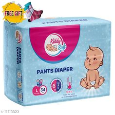 Others Kiddy soft pants diaper for baby - L size(34pc, baby socks as free gift) Product Name: Kiddysoft Pants Diapers Small 46 Counts (Baby Socks- FREE Brand Name: KiddySoft Type: Pads Multipack: 34 Pads Size: L Country of Origin: India Sizes Available: Free Size   Catalog Rating: ★4.3 (2051)  Catalog Name: Kid's Pants Diapers & Socks CatalogID_2066981 C84-SC1281 Code: 163-11113023-618