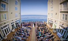Perfect waterfront wedding ceremony spot at Intercontinental The Clement Carmel California