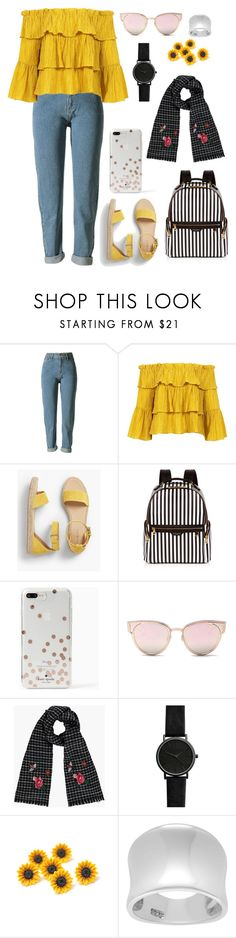 """Untitled #609"" by catarina-de-sousa-lopes on Polyvore featuring WithChic, Sans Souci, Talbots, Henri Bendel, Kate Spade, LMNT and Journee Collection"
