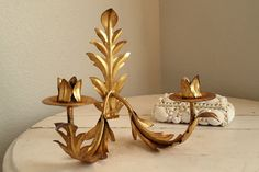 Italian Florentine Crystal Tole Candle Sconce by Somethingcharming