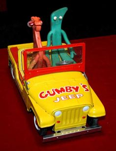 toys from the 60s - Bing Images I had these when I was 5... the jeep, Gumby and Pokey!