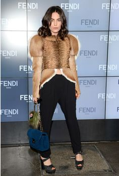 Milan: Tallulah Harlech at Fendi