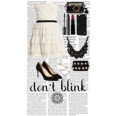 Black and White Inspired by cchdallas-1 on Polyvore featuring polyvore, fashion, style, BCBGMAXAZRIA, Hobbs, sweet deluxe, Valentino, Majorica, Forever 21 and Witchery