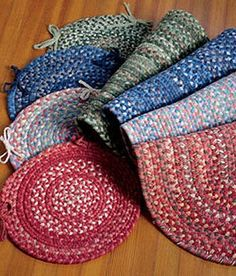 Crocheted Rag Rug Chair Pads Perfect Touch Rag Rugs