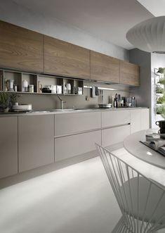 Küche Holz Grau