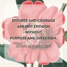 Motivational Quotes : QUOTATION – Image : Quotes Of the day – Description Efforts and courage are not enough without purpose and direction. – John F. Kennedy Sharing is Power – Don't forget to share this quote ! Quotable Quotes, Motivational Quotes, Inspirational Quotes, Positive Quotes, Good Thoughts, Random Thoughts, More Than Words, Powerful Words, Great Quotes