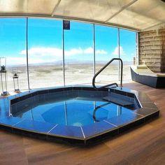 Spa con una increíble vista. Hotel de Sal Luna Salada