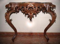 Консольный стол   Резьба по дереву, кости и камню