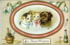 New Year (vintage) Card
