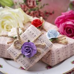 50 Handmade My English Summer Mixed Soap Parcel Wedding Favours - FREE POSTAGE.  £160.00.