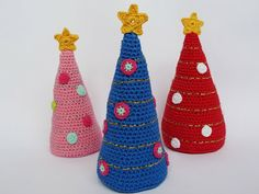 Ilona's blog: Kerstboom haken patroon, crochet christmas tree pattern