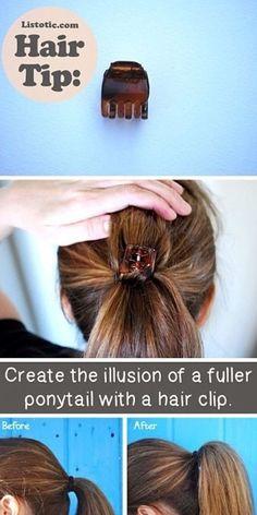 Full ponytail illusion