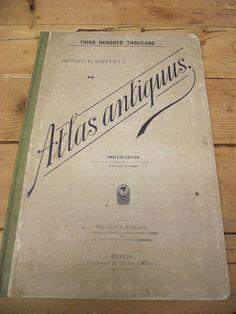 Heinrich Kiepert Atlas Antiquus 12th Edition Improved Corrected & Enlarged