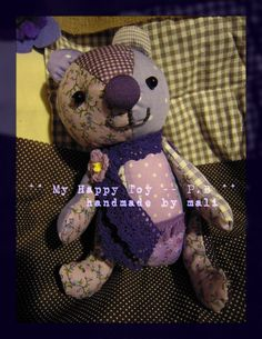 my handmade happy toy... use all my favourite purple fabric leftover to complete