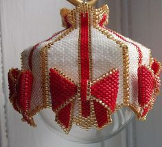 Made in the Shade Beaded Ornament Cover by cathylikestocraft