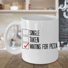 Waiting For Pizza Valentines Day Gift, Valentines Gift, Valentines Day Gift, Valentines Day Mug, Funny Valentines Gift, Pizza Mug