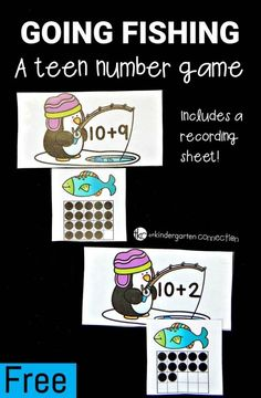 Work on teen numbers in twenty frames with this penguin themed matching game!