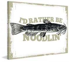 Catfish Noodlin by Saturday Evening Post Graphic Art on Canvas