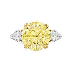 Betteridge Collection 5.75 Carat Fancy Vivid Yellow Diamond Ring   Betteridge