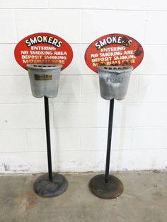 Vintage - Antique Free Standing Outdoor Ash Trays picclick.com