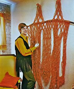 Macrame, 1970s. Not to mention the vest!!
