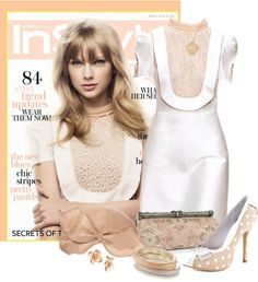 """Taylor Swift in Peach"" by flowerchild805 ❤ liked on Polyvore"